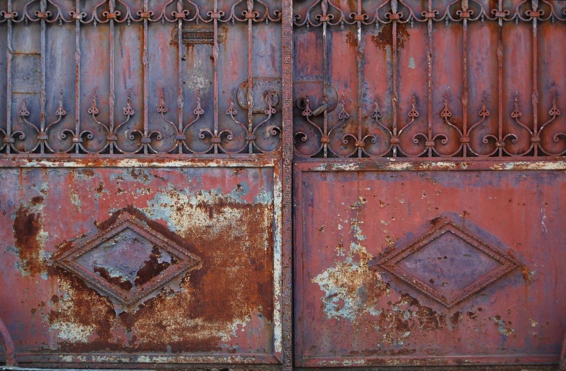 corroded doors