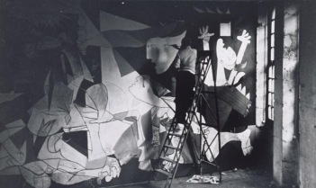 Picasso and Guernica in studio